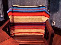 "Handmade Crafted Crochet Afghan Throw 36"" X 48"" Desert Sunset"
