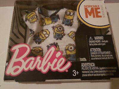 DESPICABLE ME MINIONS  Lavender top for Barbie doll FITS CURVY DOLL