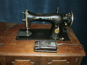 1934 Singer Sewing Machine With Cabinet Ebay