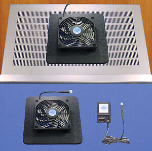 Receiver-Amplifier-cooling-fan-w-Super-air-chamber-base-multi-speed-control