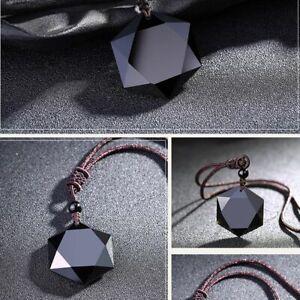 schmuck-segen-maenner-glueck-hexagramm-form-halskette-amulet-obsidian-anhaenger