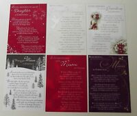 Christmas Graveside Memory Cards - Daughter, Grandma, Mum - Christmas Messgae