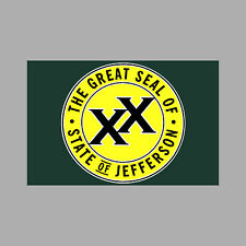 State of Jefferson 3 inch Window Bumper Sticker