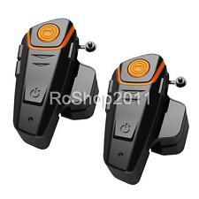 2pcs BT-S2 Bluetooth 1000M Intercom Motorcycle Helmet Headset FM Radio Earpieces