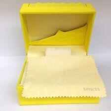 New Authentic INVICTA Yellow Watch Box Storage Case BIG SIZE