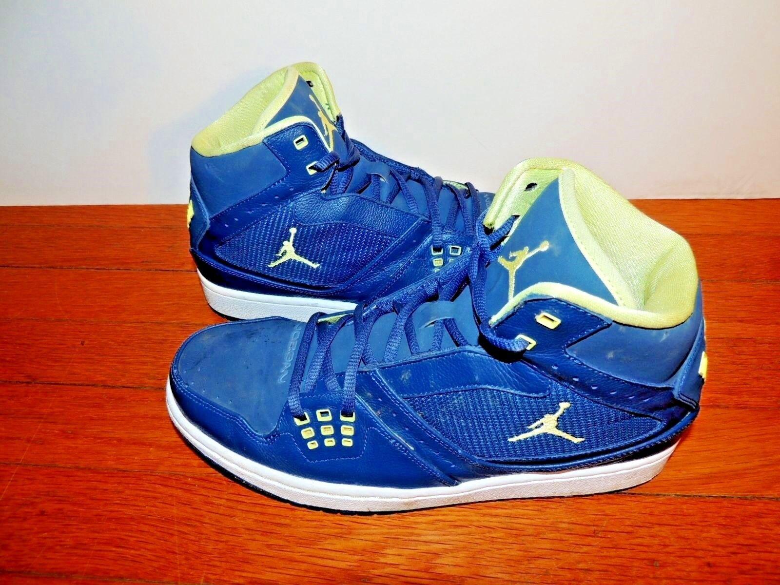 The latest discount shoes for men and women Nike Air Jordan 372704-415 Sneaker Shoe 9 Basketball Retro 1 I Flight Blue OG