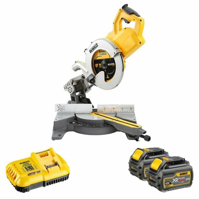 Dewalt DCS778T2 XR 54v Flexvolt 250mm Cordless Mitre Saw 2 x 6.0ah Batteries