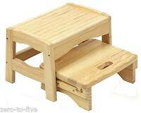 Safety 1st Toddler Two Step Stool - Bathroom Child Potty Training Aid- Wooden