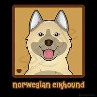 Norwegian Elkhound Cartoon T-shirt - Men, Women, Youth, Tank, Short, Long Sleeve