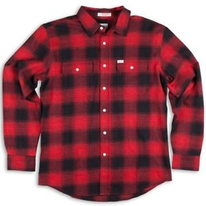 ab81e0f0ecfd0 Image is loading MATIX-Cheville-Flannel-Shirt-L-Cardinal