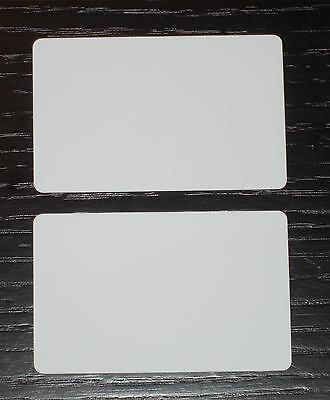 100 Blank PVC Plastic Photo ID White Credit Card CR80 30Mil