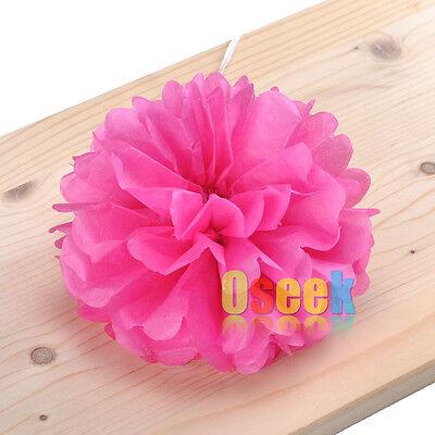 "15cm (6"") Tissue Paper Pom Poms Flower Blooms Wedding Party Shower Decorations"