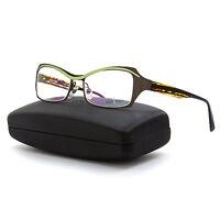 Alain Mikli Al 1117 Womens Eyeglasses M01s Brown Green Frame / Rx Clear Lenses