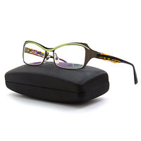 Alain Mikli Al 1117 Womens Eyeglasses M01s Brown Green Frame / Rx Clear Lenses