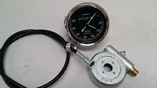 SMITHS SPEEDOMETER 80M WITH CABLE METAL DRIVE ROYAL ENFIELD BSA NORTON REPLICA