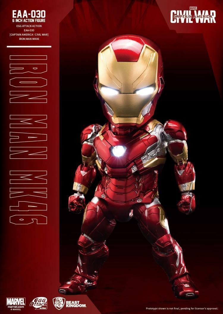 Bestia Reino 6  EAA-030 MK46 Iron Man Tony Estrellak Capitán América  Juguete de la guerra civil
