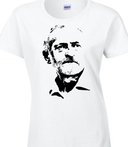 Jeremy Corbyn T-Shirt Labour Leader Leadership Socialist T-Shirt Ladies Red Vote