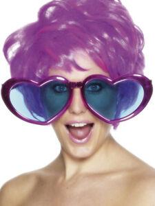 ANOS-70-Jumbo-Forma-De-Corazon-Gafas-Disfraz-espf
