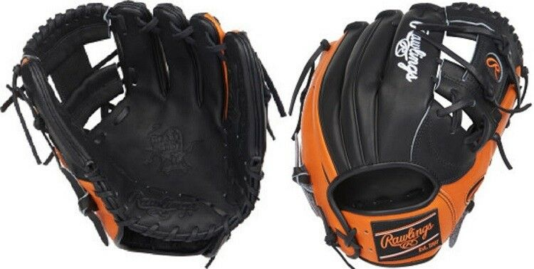 Rawlings pronp 4-2BO 11.5  Heart of the hide Negro Naranja Guante de béisbol