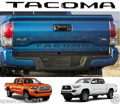 Piano Black Tailgate Letters Inserts For 2016-2017 Toyota Tacoma New Free Ship