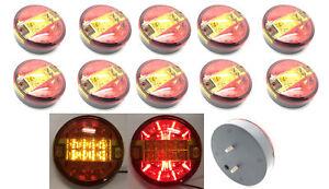 12v-24v-Cola-Trasero-Espalda-Hamburguesa-Camion-Remolque-LED-Luces-Lamparas-Redonda-Coche-Furgoneta
