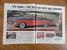 1956 Hudson Hornet Hollywood Hardtop V-8 Ad  The Big Car with Big Changes
