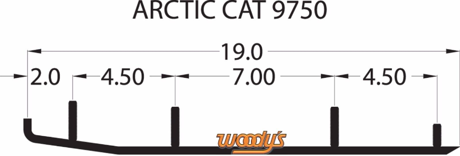 Woodys Trail Blazer Carbide Wear Bars Runners Arctic Cat