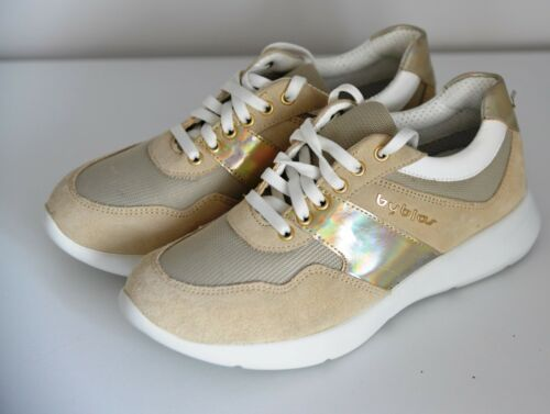 Gold Sneakers Womens Beige Scarpe Sneakers Byblos basse Premium Uk 5 Sand New 8q4tA