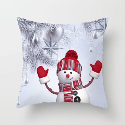45cm X 45cm Cute 3D Snowman Christmas Sofa Pillow Case Cushion Cover Xmas Decor