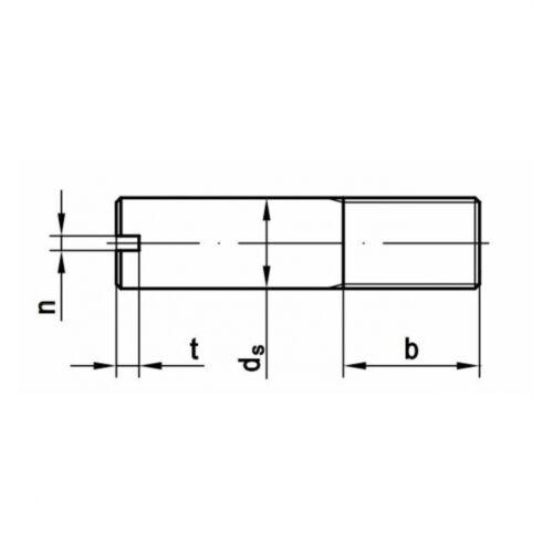10x DIN 427 Schaftschrauben mit Schlitz//Kegelkuppe M6 x 30 14 H blank
