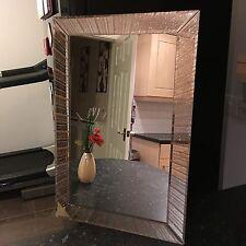 Grande Golden glitter Sparkle Parete Specchio Stanza Ragazze Mantello Bagno Specchio Parete