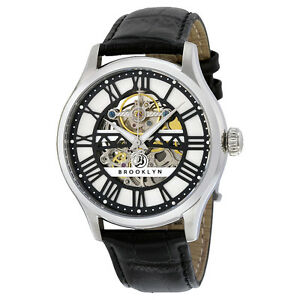Brooklyn-Bridgewater-Skeleton-Mens-Automatic-Silver-Dial-Mens-Watch