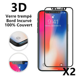 Verre-Trempe-Integral-Film-protection-ecran-Pour-iPhone-XS-Max-X-XR-6-7-8-3D