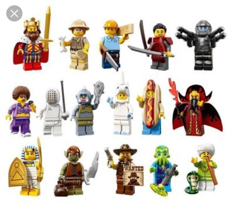 Lego Collectible Series Series Series 13 Minifigures Complete Set of 16  71008 CMF 46892e