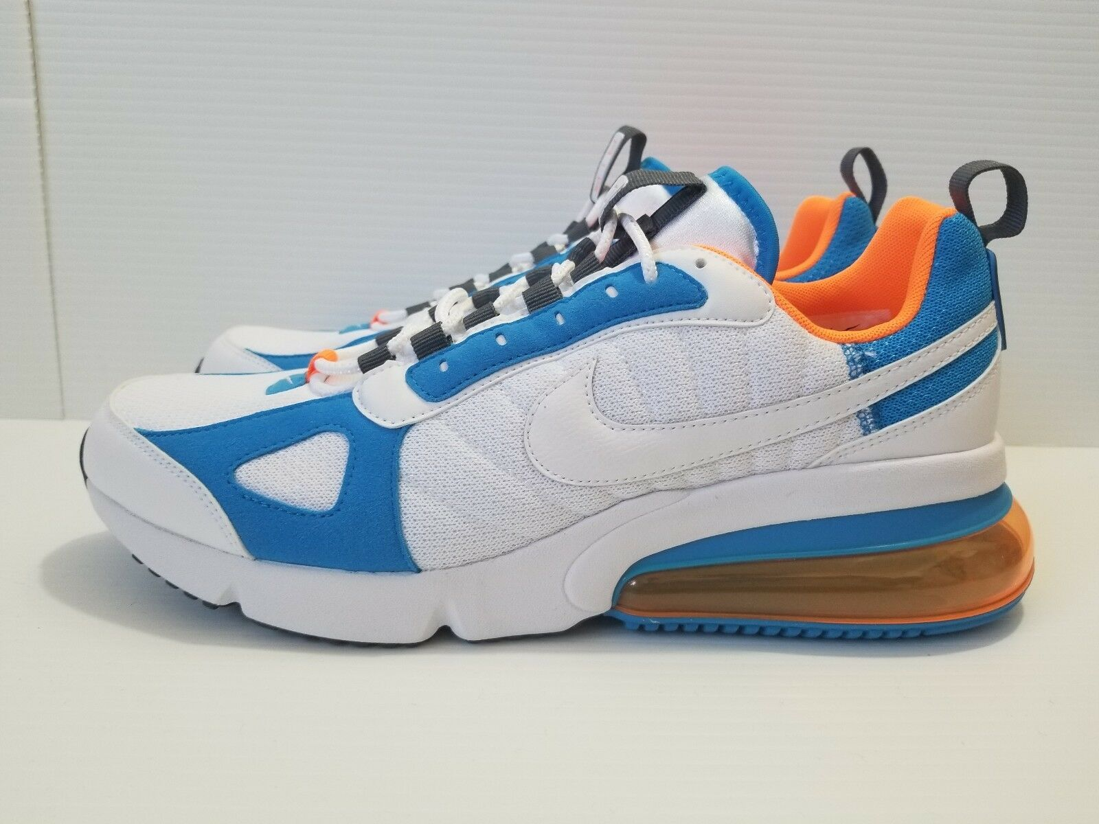 Nike Air Max 270 Futura White bluee orange Running Men shoes Sz 9.5 (AO1569 100)