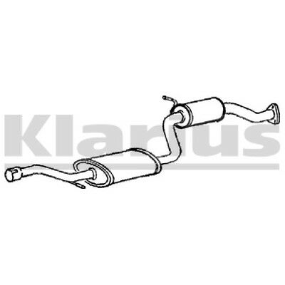 1x KLARIUS OE Quality Replacement Middle Silencer Exhaust For FORD Petrol
