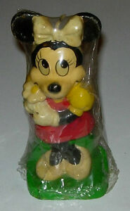MINNIE MOUSE FIGURAL CANDLE SEALED 1970'S DISNEY   eBay