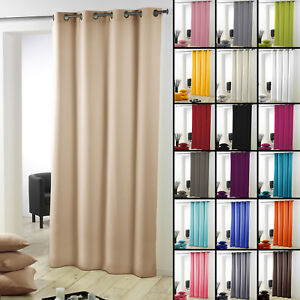 Essentiel-Plain-Single-Curtain-Panel-with-Metal-Eyelets-Long-280cm-Drop