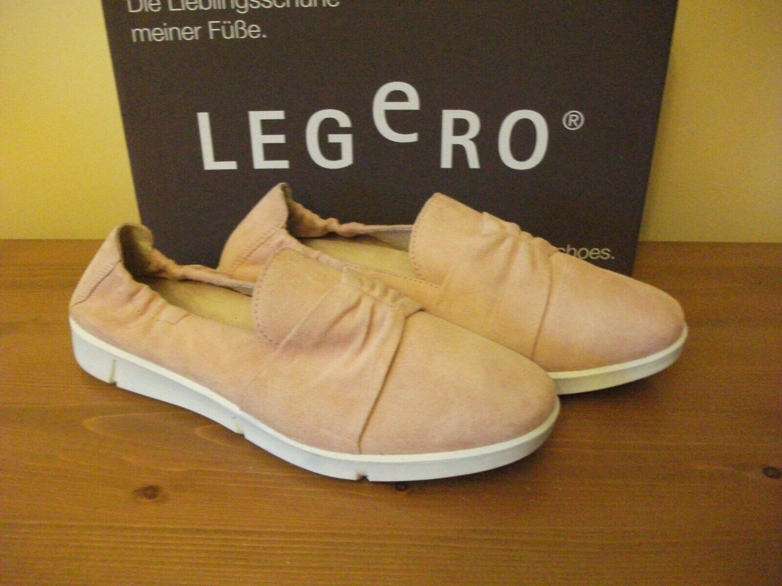 Ladies LEGERO 9882 Lucca Pink SUEDE Slip On SHOE Size UK 4.5 EUR 37 38 NEW
