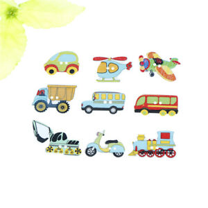50pcs-Wood-Mixed-Cars-And-Airplane-Sewing-Children-Buttons-Scrapbook-Crafts-S-Px