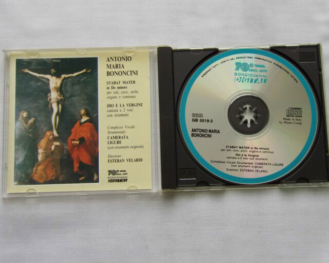 BONONCINI Stabat mater-Dio e la vergine CAMERATA LIGURE-VELARDI CD BONGIOVANNI