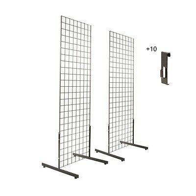 12 Utility Hooks Black  2pk 2/'x4/' Gridwall Panel Tower /& T-Base Display