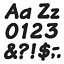 thumbnail 2 - Black 4-Inch Italic Upper/Lowercase Letters - Classroom Displays, Notice Boards