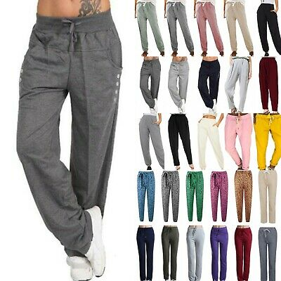 Women Casual Sweatpants Joggers Yoga Harem Pants Sports Elastic Waist Trousers L