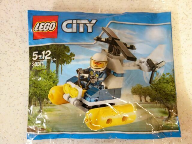 LEGO City Swamp Police Helicopter Polybag 30311 New /& Sealed