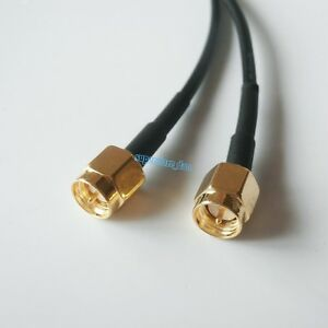 SMA-male-plug-to-SMA-male-RF-Pigtail-Coaxial-Jumper-Cable-RG174-20inch