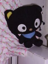 "7"" SANRIO Fiesta Black Hello Kitty CHOCOCAT With Blue Scarf Plush Boy Cat,"