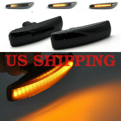 2pcs Dynamic Flowing Smoke LED Side Marker Signal Light for Land Rover Discovery