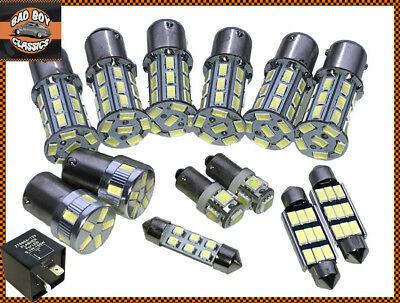 1156 BA15S 27 LED Turn Signal Indicator Bulbs AMBER For Clear Lenses x4