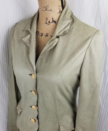 Jacket Nigel Preston Lamb silk Skin Natural S Olive Cream Lined Cotton Knight amp; PaqPS
